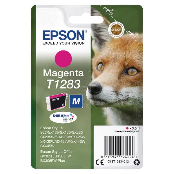 Epson T1283 Magenta Ink Cartridge C13T12834012-0
