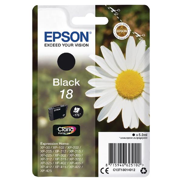 Epson 18 Black Ink Cartridge C13T18014012-0