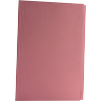 Concord 270gsm Square Cut Folder Medium-weight Foolscap Pink 43207 Pk100