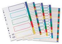Concord Plastic Index 1-20 A4 Multi-Colour 66599