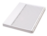 Concord Unpunched Presentation Divider A4 26-Part A-Z White 75601