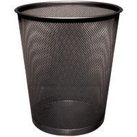 Q-Connect Waste Basket Mesh Black KF00871