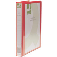 Q-Connect Presentation 4D-Ring Binder 25mm A4 Red Pk1 KF01326