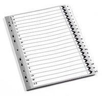 Q-Connect Index A4 Multi-Punched 1-20 Reinforced White Board Clear Tabbed KF01531