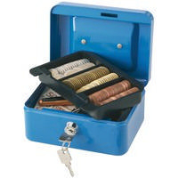Q-Connect Cash Box 6 inch Blue KF02608