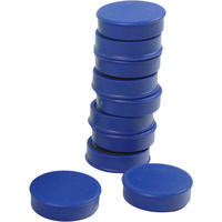 Q-Connect Magnet 25mm Blue Pk10 KF02640