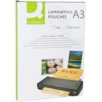 Q-Connect Laminating Pouch A3 80micron Pk100 KF04122