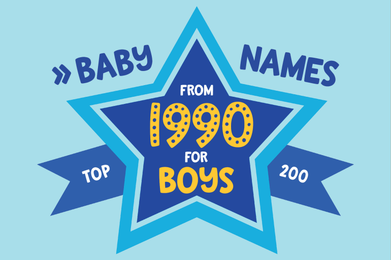 Baby names for boys from 1990