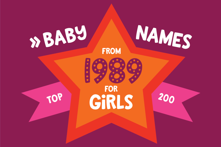 200 most popular baby names for girls born in 1989