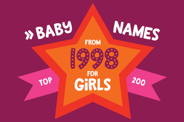 200 most popular baby names for girls born in 1998