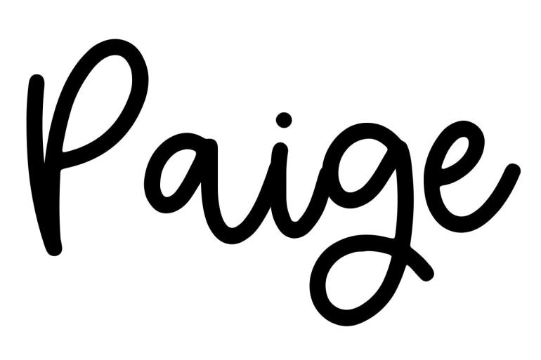 About the baby namePaige, at Click Baby Names.com