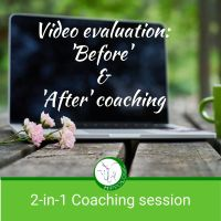 Video review of your training on before and after coaching