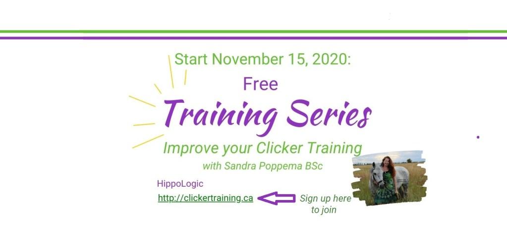 FREE training series Start November 15, 2020