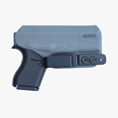 gray IWB inside of the waistband saya clip gun holster