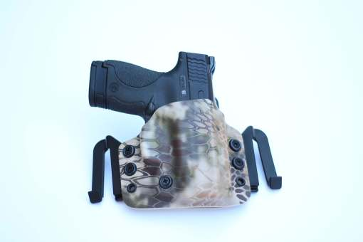 OWB brigandine custom kydex holster for glock 43 made by click holsters