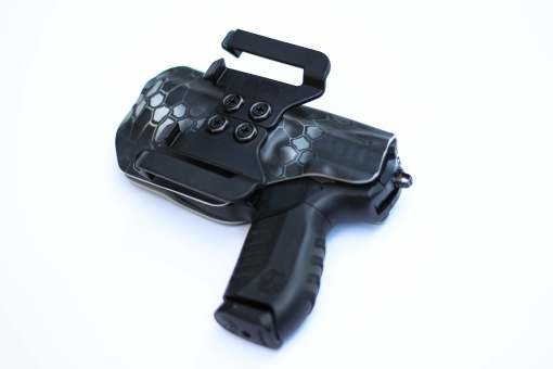 OWB kydex holster with speed ease clips