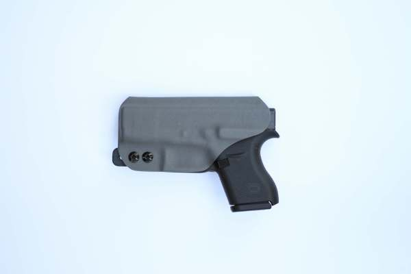 back side of saya kydex holster with tuckable j-hook