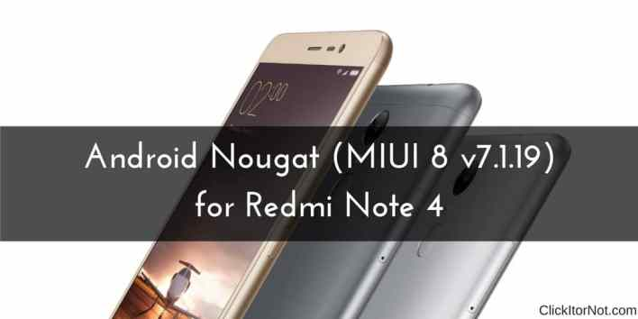 Redmi Note 4 to Android Nougat