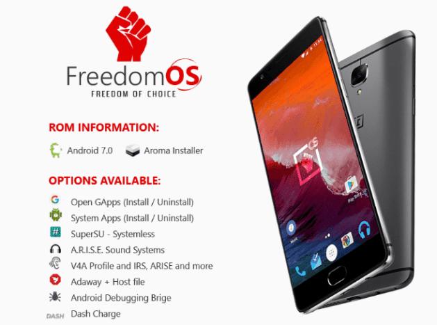FreedomOS for OnePlus 3