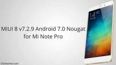 MIUI 8 v7.2.9 China Developer ROM for Mi Note Pro