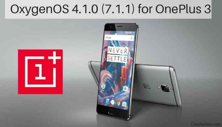 OxygenOS 4.1.0 (7.1.1) for OnePlus 3