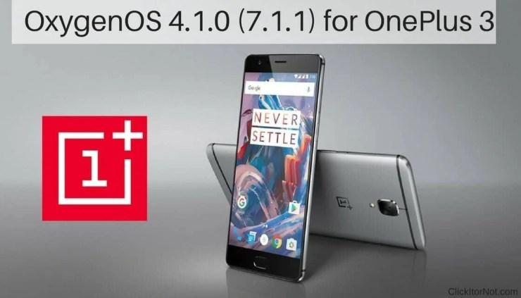 OxygenOS 4.1.0 (7.1.1) for OnePlus 3