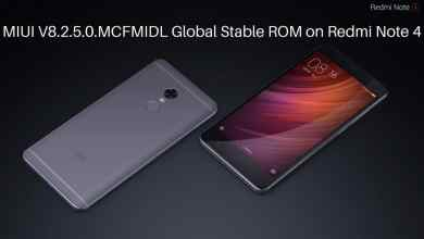 MIUI V8.2.5.0.MCFMIDL Global Stable ROM on Redmi Note 4