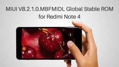 MIUI V8.2.1.0.MBFMIDL Global Stable ROM on Redmi Note 4