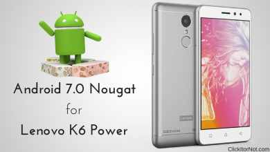 Android 7.0 Nougat on Lenovo K6 Power