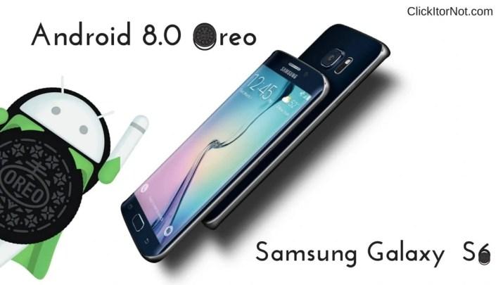 Android 8.0 Oreo on Samsung Galaxy S6