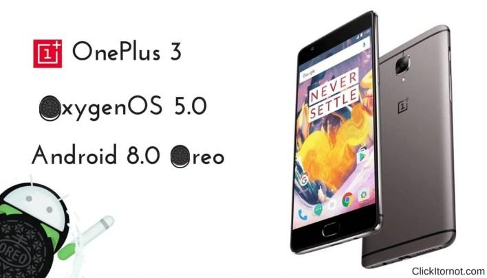 OxygenOS 5.0 Android 8.0 Oreo on OnePlus 3