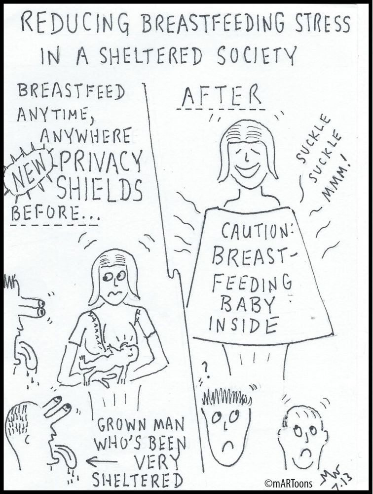 MT#50 Breastfeed Shields by Martin West