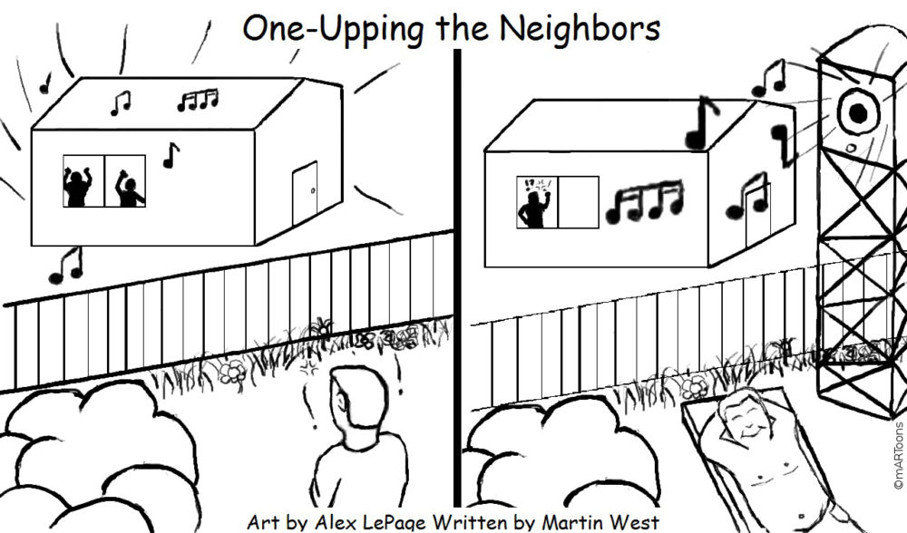 MT#288 One Up Neighbors by M. West & A. Lepage