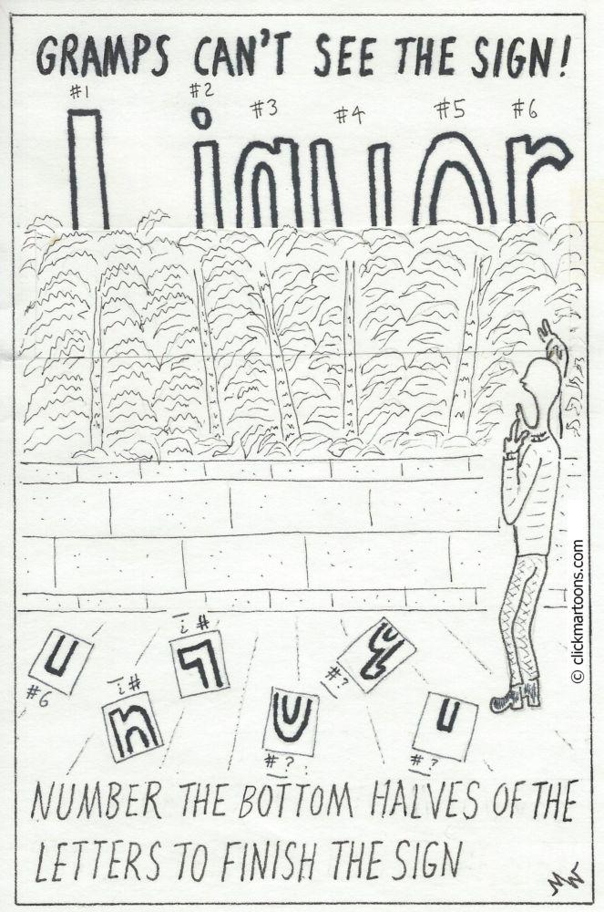 MT#558 Gramp's Sign Puzzle