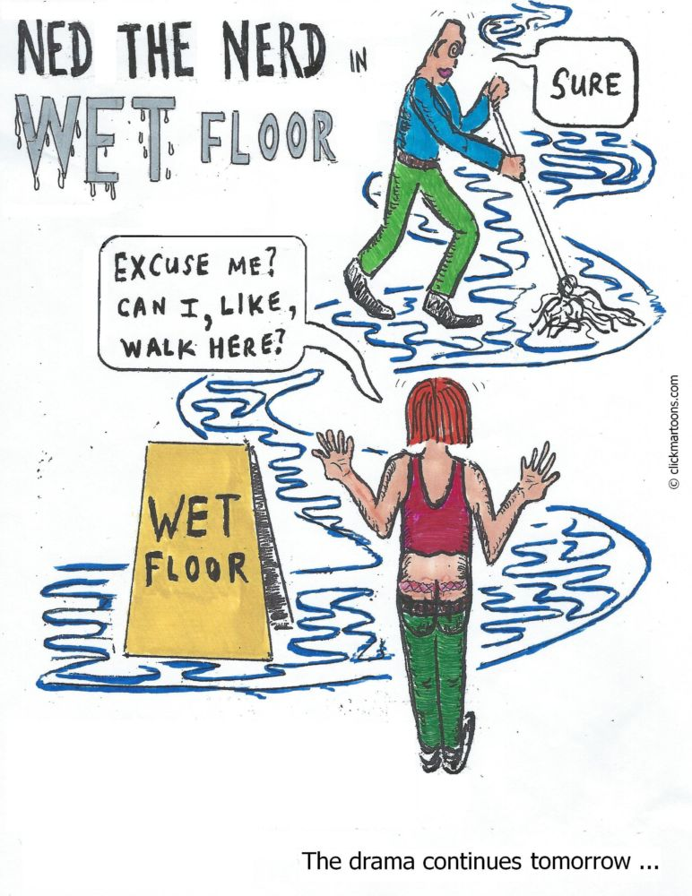 MT#639 Wet Floor mini drama Part 1 of 3