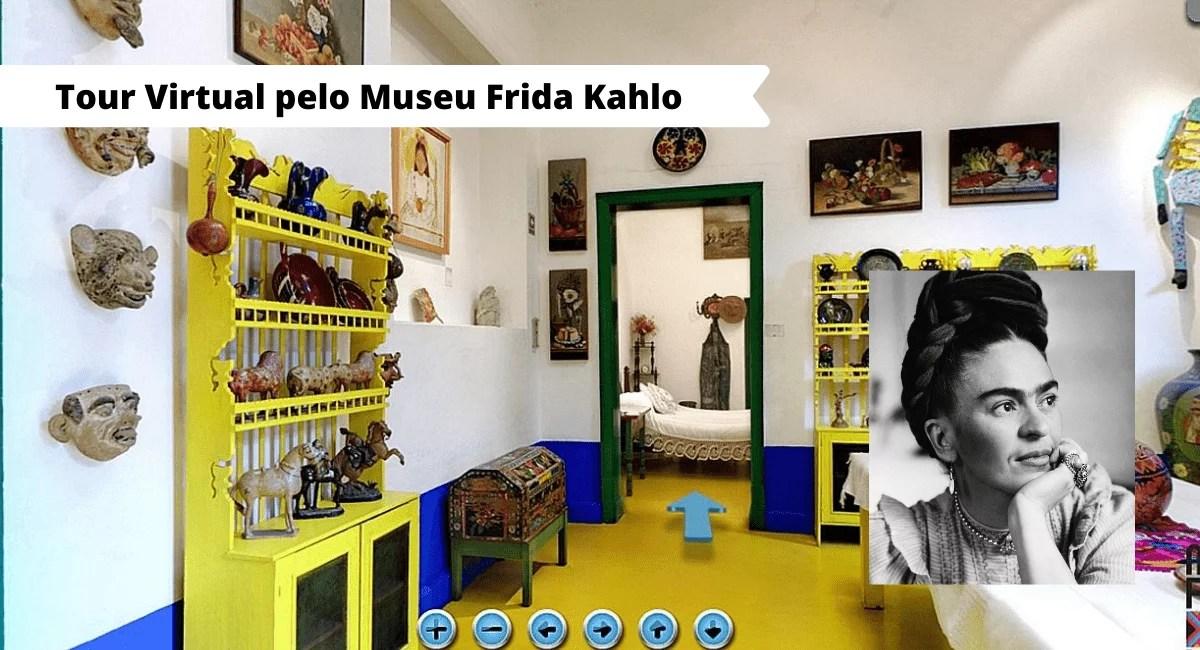 Faça um tour virtual pela casa de Frida Kahlo