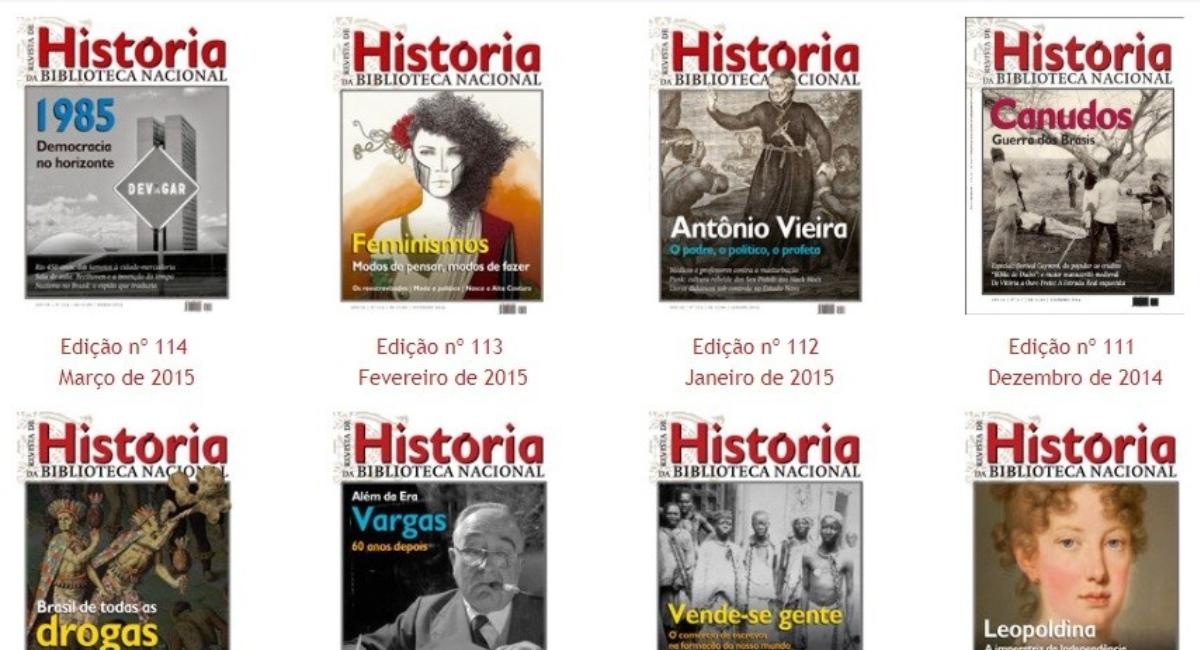 Revista História da Biblioteca Nacional disponibiliza acervo para leitura online
