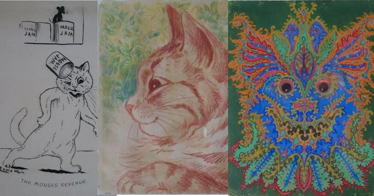 As pinturas de gatos de Louis Wain: A evolução de uma possível doença mental