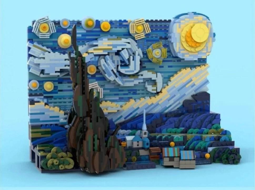 Obra de Van Gogh vira brinquedo  na Lego