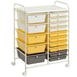 15-Drawer Storage Rolling Organizer