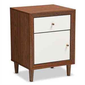 White End Table Nightstand
