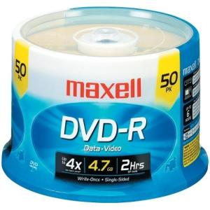 Maxell 4.7gb 120-minute Dvd-rs with free shipping worldwide
