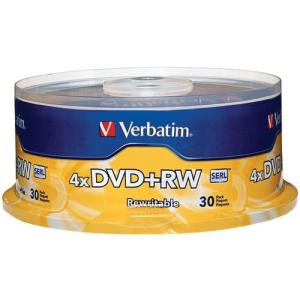 Verbatim 4.7gb 4x Dvd+rws, 30-ct Spindle with free delivery