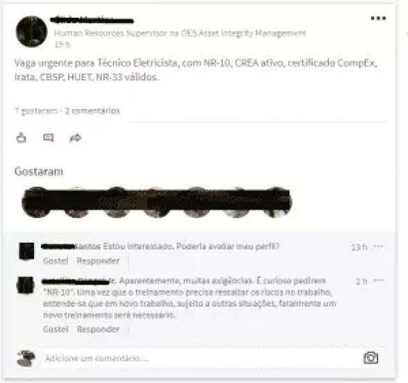 OES Group Brazil job