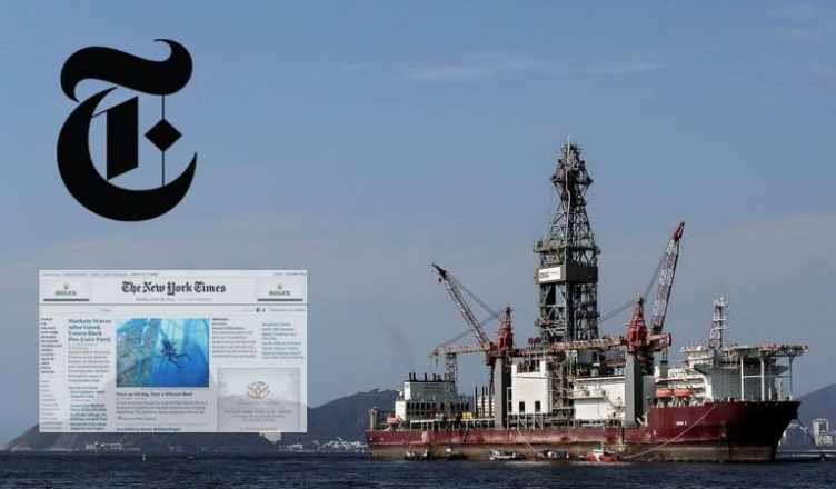 O setor do petróleo no Brasil é destaque no The New York Times