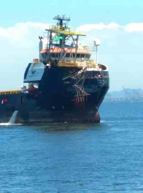 Embarcação de Apoio Batuira no Estaleiro Mauá Petrobras FPSO