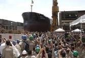 Evento: Lançamento do 10º navio do Promef, o Panamax Irmã Dulce, no estaleiro EISA PETRO UMData: 28-02-14Autor: Claudio Ferreira / Transpetro