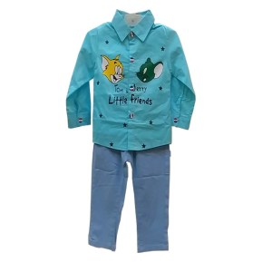 baby boy kid full pant shirt dress skyblue color