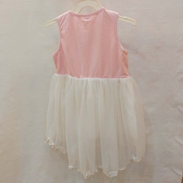 baby girls suit - white & pinky color dress