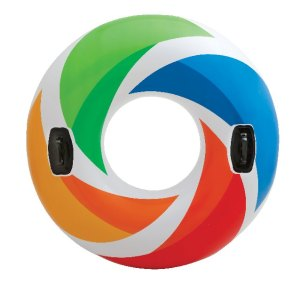 """Intex Color Whirl Tube Float 47"""" Pool Raft with Handles"""